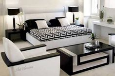 Love black and white - Versace Home – Luxury furniture collection Versace Casa, Versace Home, Versace Furniture, Luxury Furniture, Outdoor Furniture, Modern Furniture, Home Bedroom, Bedroom Decor, Dream Bedroom