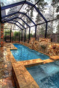 Fantastic enclosed pool #haywardpinyourpool