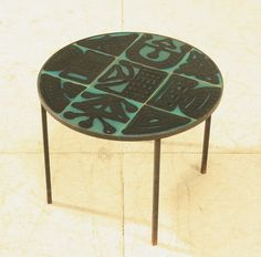 French, ceramic side table, c.1950's