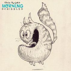 Kooky cat!  #morningscribbles