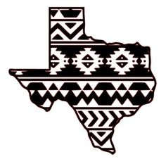 Aztec/Tribal Texas Decal Aztec Car Window by WhitneysMonograms Silhouette Cameo Projects, Silhouette Design, Vinyl Crafts, Vinyl Projects, Dallas, Texas Tattoos, Acrylic Keychains, Cricut Craft Room, Tatuajes