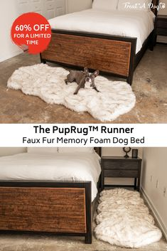 Introducing the PupRug™, where function and design meets comfort. Replace your normal runner rug at the foot of your bed, in front of a fireplace or beside a couch with a comfortable PupRug™ Memory Foam Runner Bed. Orthopedic Dog Bed, Dog Rooms, Training Your Dog, Training Collar, Dog Houses, Dog Accessories, First Home, Memory Foam, Fur Babies