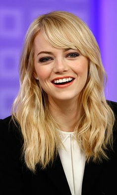 """Cosmo: Okay, so let's just jump right in. What makeup do you think guys like on a girl?  Emma Stone: ""I could care less. I think women should wear whatever makeup they want for themselves. Makeup should be fun."""