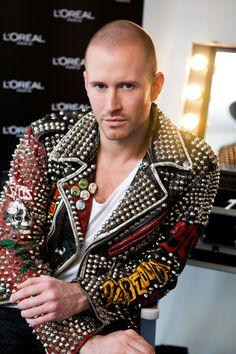 studded leather jacket - Storm Pedersen