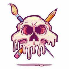 Art Room Jolly Roger by Juan Villamil, via Behance Graffiti Art, Graffiti Doodles, Graffiti Drawing, Art Drawings, Posters Geek, Character Illustration, Illustration Art, Vexx Art, Desenhos Halloween