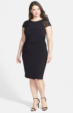 Betsy & Adam Embellished Cap Sleeve Cocktail Dress (Plus Size) available at #Nordstrom