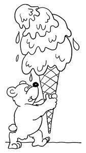 oso con helado grande