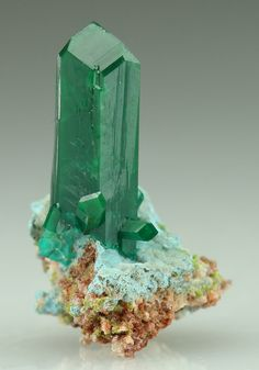 Dioptase and Plancheite - Mindouli District, Brazzaville (Reneville), Republic of Congo