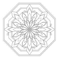 Coloring Mandalas: 16 Serenity