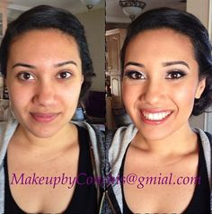 Before and after make up!