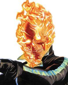 Alex Ross, Marvel Comics Art, Ms Marvel, Captain Marvel, Ghost Rider, Comic Book Artists, Comic Books Art, Comic Art, Marvel Comic Character