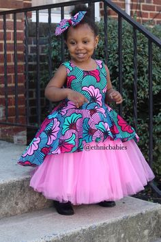 Items similar to Ankara tulle dress /Christmass dress/Thanksgiving dress/Holiday dress/ African fabric Tulle dress/tutu dress/ethnic tutu/ Tulle dress/tutu on Etsy Baby African Clothes, African Dresses For Kids, Latest African Fashion Dresses, African Print Dresses, Dresses Kids Girl, African Print Fashion, Children Dress, Children Clothing, Kids Dress Wear