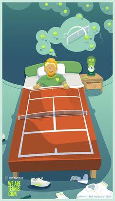 """Pub de We are Tennis """"Tenniseveryday"""" => insomnie C est toujours le cas quand le King joue...."""