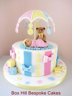 Baby Shower Cake. by Noreen@ Box Hill Bespoke Cakes