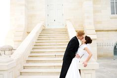 kiss on the stairs Wedding Kiss, Dream Wedding, Wedding Stairs, Wedding Ideas, Weddings, Engagement, Wedding Dresses, Sexy, Photos