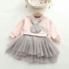 fury bunny on light sweat shirt with tutu Little Girl Outfits, Little Girl Dresses, Toddler Outfits, Baby Outfits, Kids Outfits, Little Fashion, Baby Girl Fashion, Fashion Kids, Baby Kind
