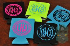 Design Your Own Personalized Monogram Can Koozie Cozie One Sided on Etsy, $3.25