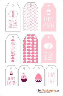 Etiquetas para decoración de Pascua