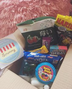 i've just received this box full of awesome stuff. some of these i know from my childhood some i had before and loved it and some new stuff i wanted to try    #scrummysklep #słodycze #zagranicznesłodycze #hubbabubba #hubbabubbamealang #wonka #nerds #laffytaffy #lukrecja #poptarts #blueberry #kelloggs #sweets #haribo #haribogummies #liquiricegummies #liquorice #liquoricelover #mochi #strawberrymochi #americansweets #japanesesweets #germansweets #sweetslover
