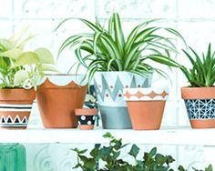 Comment rendre plus attrayant vos pots de fleurs en terre-cuite ? Il suffit de leur apporter vous-même une décoration. Retrouvez toutes les astuces pour réaliser une décoration peinte très tendance.