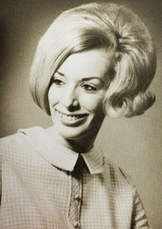 60's style - I'm sleek, I'm perky. My hair also has a question.