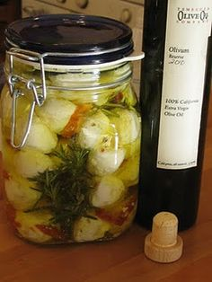 Marinated goat cheese ~ I bought this in Canada, then found it at Whole Foods.