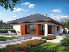 EKO 10 | Projekty rodinných domov | Stavby domov Bungalows, 1 Story House, Rio 2, Clinic Design, Future House, Gazebo, House Plans, Sweet Home, Outdoor Structures