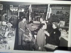 Harveys in the 1950's. Harvey at the register.