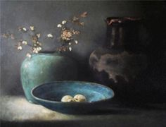 pieter knorr - Google Search Life Paint, Still Life, Decorative Bowls, Artist, Flowers, Pictures, Painting, Google Search, Jars