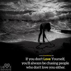 If you don't Love Yourself, you'll always be chasing people who don't love you either.  Learn to Love Yourself unconditionally and learn to see yourself without the imperfections through our Workshops. Call us on 9727722065 for a free orientation today!