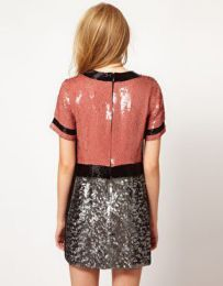 Available @ TrendTrunk.com French Connection UK Sequin T Shelly Mini Dress sz 6 in Pink/Black/Silver NWT!! Dresses. By French Connection UK Sequin T Shelly Mini Dress sz 6 in Pink/Black/Silver NWT!!. Only $137.99!