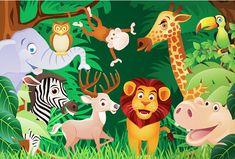 Cheap 2015 nuovi bambini camera da letto comodino sfondo wallpaper animali dei…