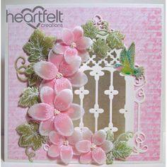 Heartfelt Creations - Pink Vellum Orchids Window Project