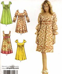Boho Peasant dress Sewing pattern Bridemaid summer by HeyChica, $10.95