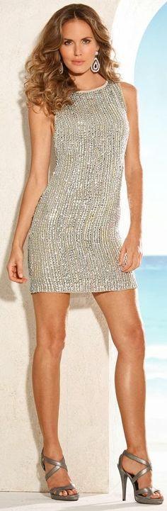 Silver Beads Dress