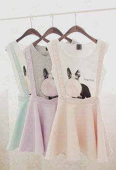 7d9e87d765 pastel coloured suspender skirts Pastel Skirt
