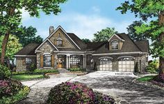 Craftsman House Plan with 3022 Square Feet and 3 Bedrooms from Dream Home Source | House Plan Code DHSW076896