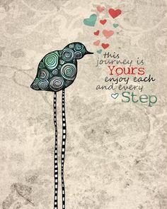 This is Your Journey / original illustration ART por studio3ten