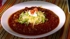 Best chili recipe! Sub Worcestershire sauce for red wine vinegar and add diced carrots or squash, plus one drained can of pinto beans.