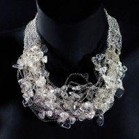 [pena] Crochet Necklace, Jewelry, Fashion, Feather, Crochet Collar, Jewellery Making, Moda, Jewelery, Jewlery