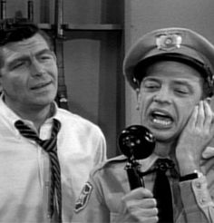 Andy Taylor and Barney Fife