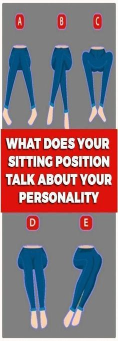 This Is What Your Sitting Position Reveals About Your Person.- This Is What Your Sitting Position Reveals About Your Personality This Is What Your Sitting Position Reveals About Your Personality - Yoga Fitness, Fitness Tips, Health Fitness, Fitness Quotes, Natural Medicine, Herbal Medicine, Ayurveda, Medicine Book, Sitting Positions