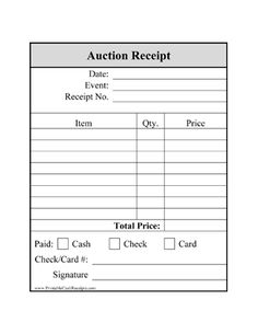 Auction Planning Tools Template Downloads Including Bid Sheet Templates For Silent