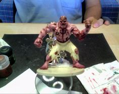 D&D Flesh Golem WIP only painting - by Paolo Giannico