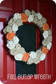 Six Sisters' Stuff: Babblings and More Fall Wreath Giveaway! {CLOSED}