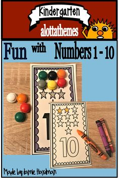Learning numbers 1 in a fun hands on activity. You can use manipulatives that are available in your classroom, PLUS b/w available. Hands On Learning, Learning Through Play, Alphabet Activities, Hands On Activities, Cut And Paste Worksheets, Numbers 1 10, Learn To Count, Kindergarten Learning, Number Recognition
