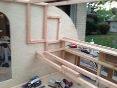 Interior cabinet framing
