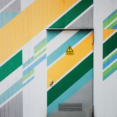 stripes! On a door in Hasenbergl district north of Munich. Photo by Nick Frank