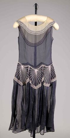 Possibly House of Lanvin Jeanne Lanvin ca. 1927 Cotton, beads, metallic