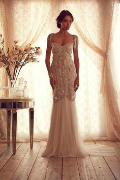 Wow! Preston Bailey, Anna Campbell wedding dress, art deco wedding dress, Gatsby inspired wedding dress,